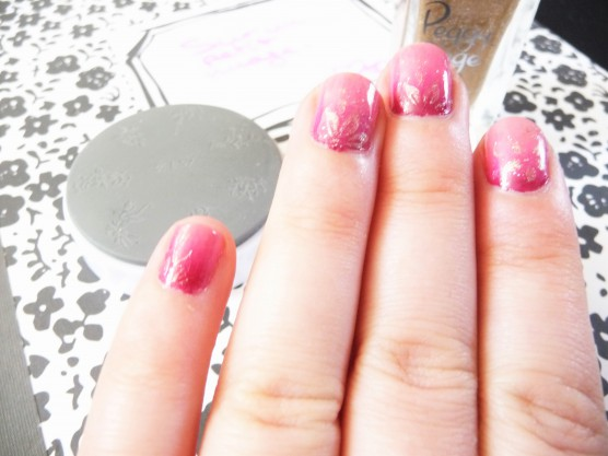 NAIL ART DEGRADE ET STAMPING