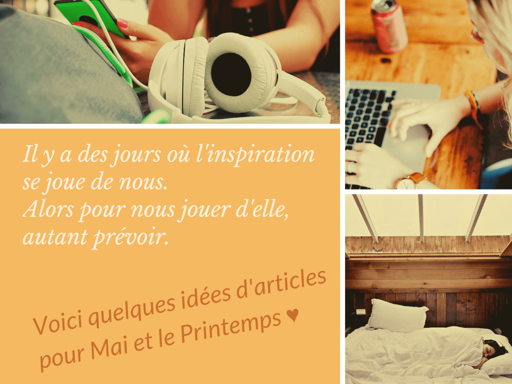 Inspiration articles Mai